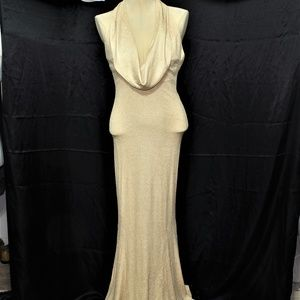 METALLIC GOLD COCKTAIL DRESS, 10